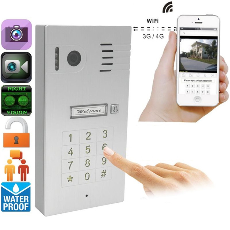 Touch Screen Wireless Video Door Phone Doorbell Intercom IP Peephole Cam Viewer Support IOS Android