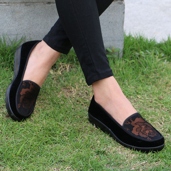 US Size 5-11 Women Flat Shoes Comfortable Casual Outdoor Slip On Cotton Loafer