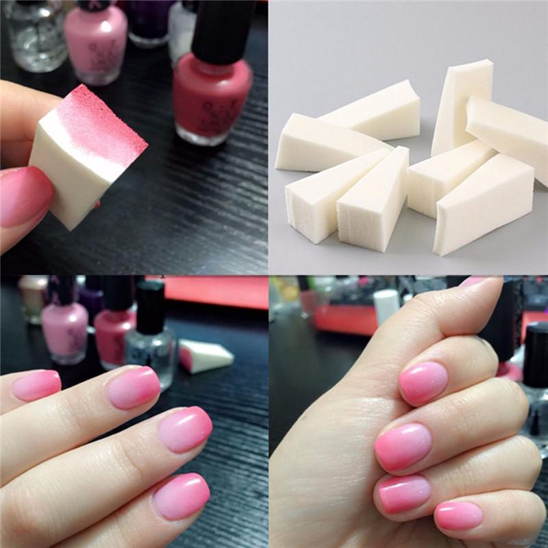 Nail Art Diy Sponge Pen St Buffer Sting Polish Transfer Manicure Set Kit