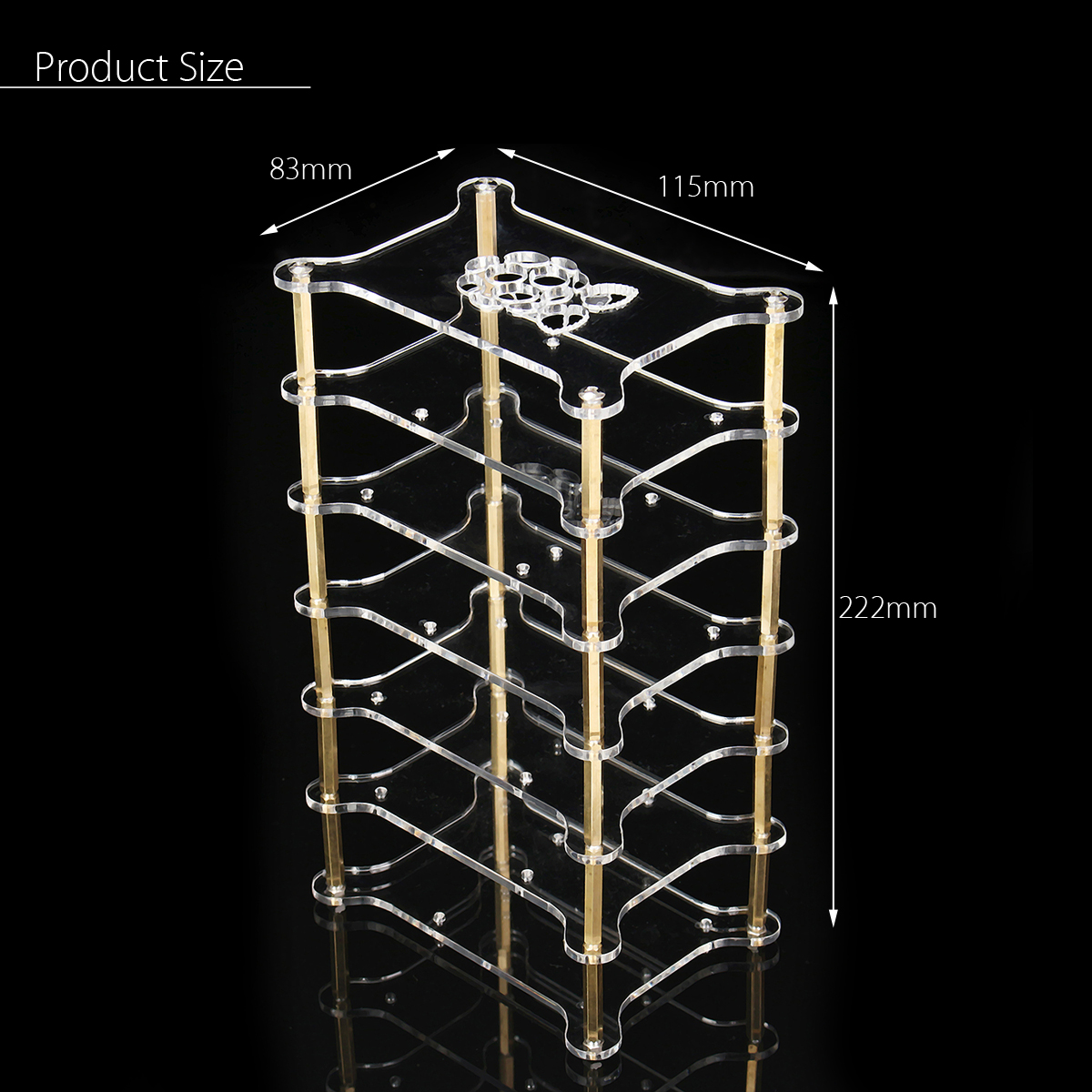 Clear Acrylic 6 Layer Cluster Case Shelf Stack For Raspberry Pi 3/2 B and B+
