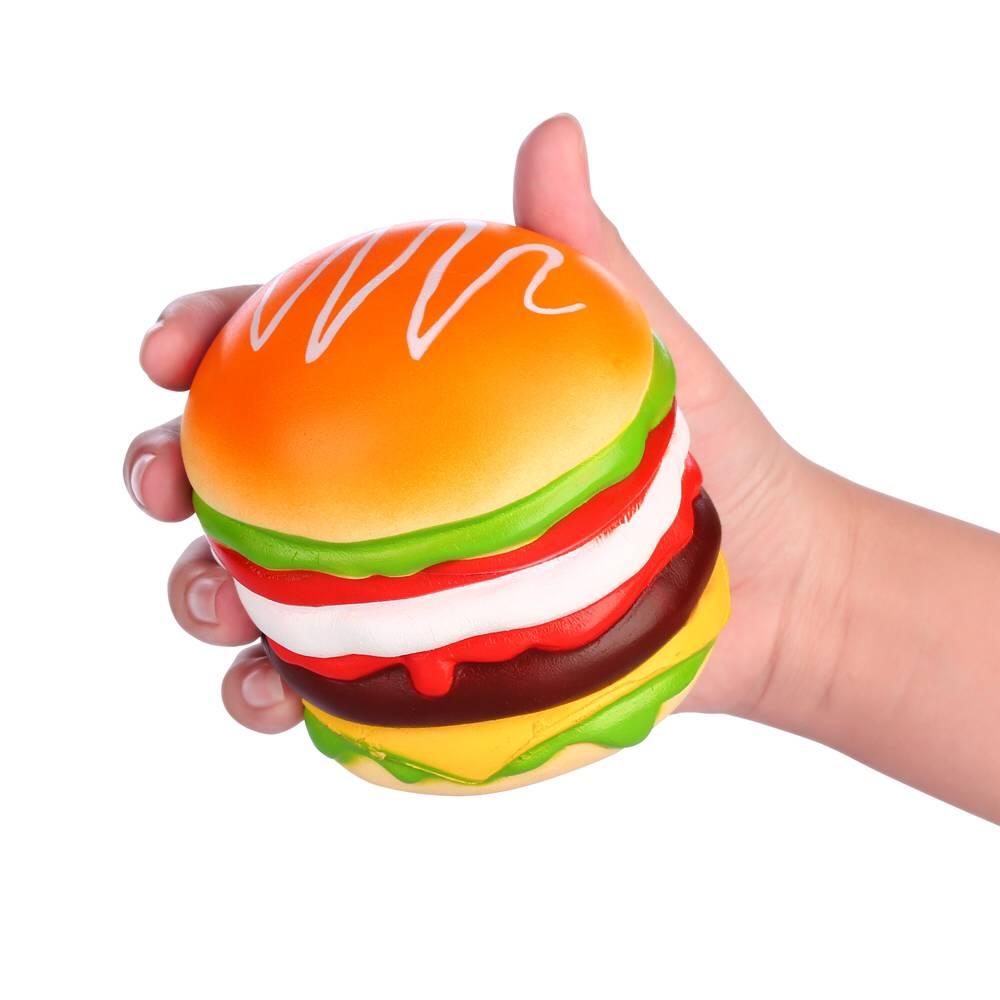 Vlampo Squishy Burger Hamburger Slow Rising Original Box