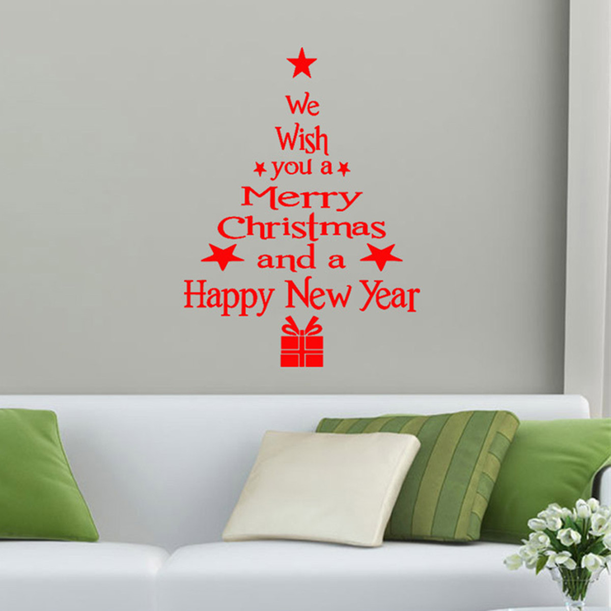Removable Merry Christmas Tree Wall Window Sticker Home Party Decoration