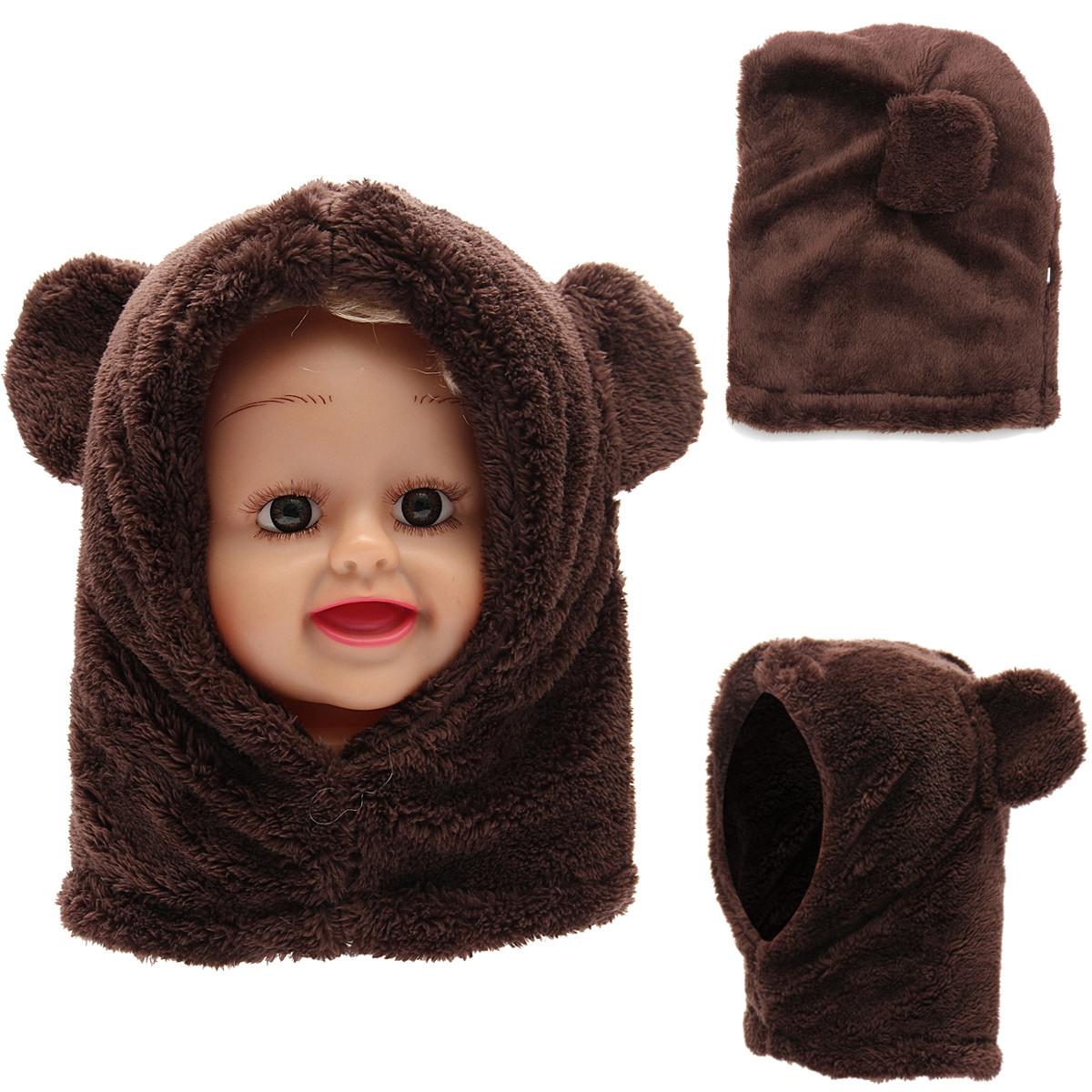 Toddler Boy Girl Baby Kids Cute Warm Winter Fluffy Bear