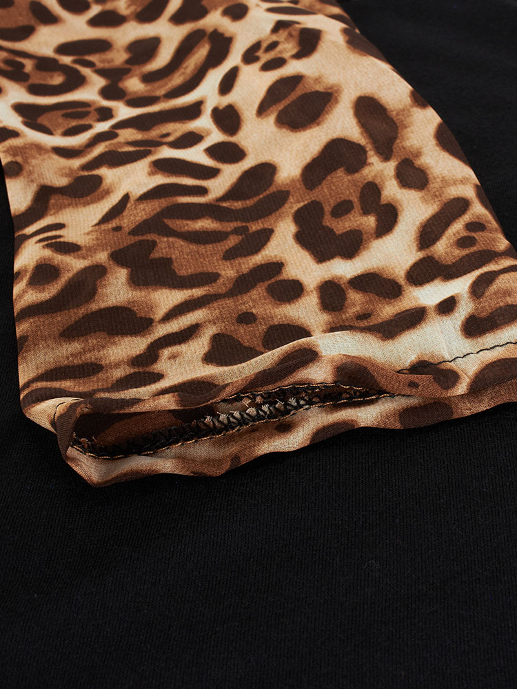 Women Casual Leopard Printed T-Shirt