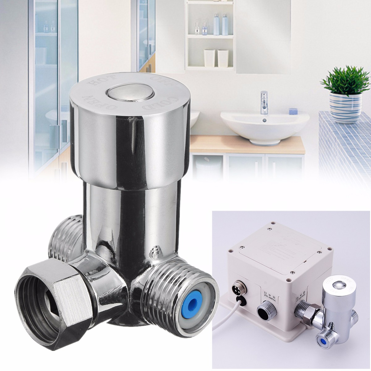 Hot And Cold Thermostat Valve Temperature Mixing Valve