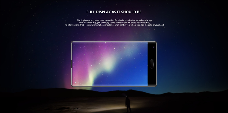 DOOGEE MIX 5.5 Inch Android 7.0 6GB RAM 64GB ROM Helio P25 Octa-Core 2.5GHz 4G Smartphone