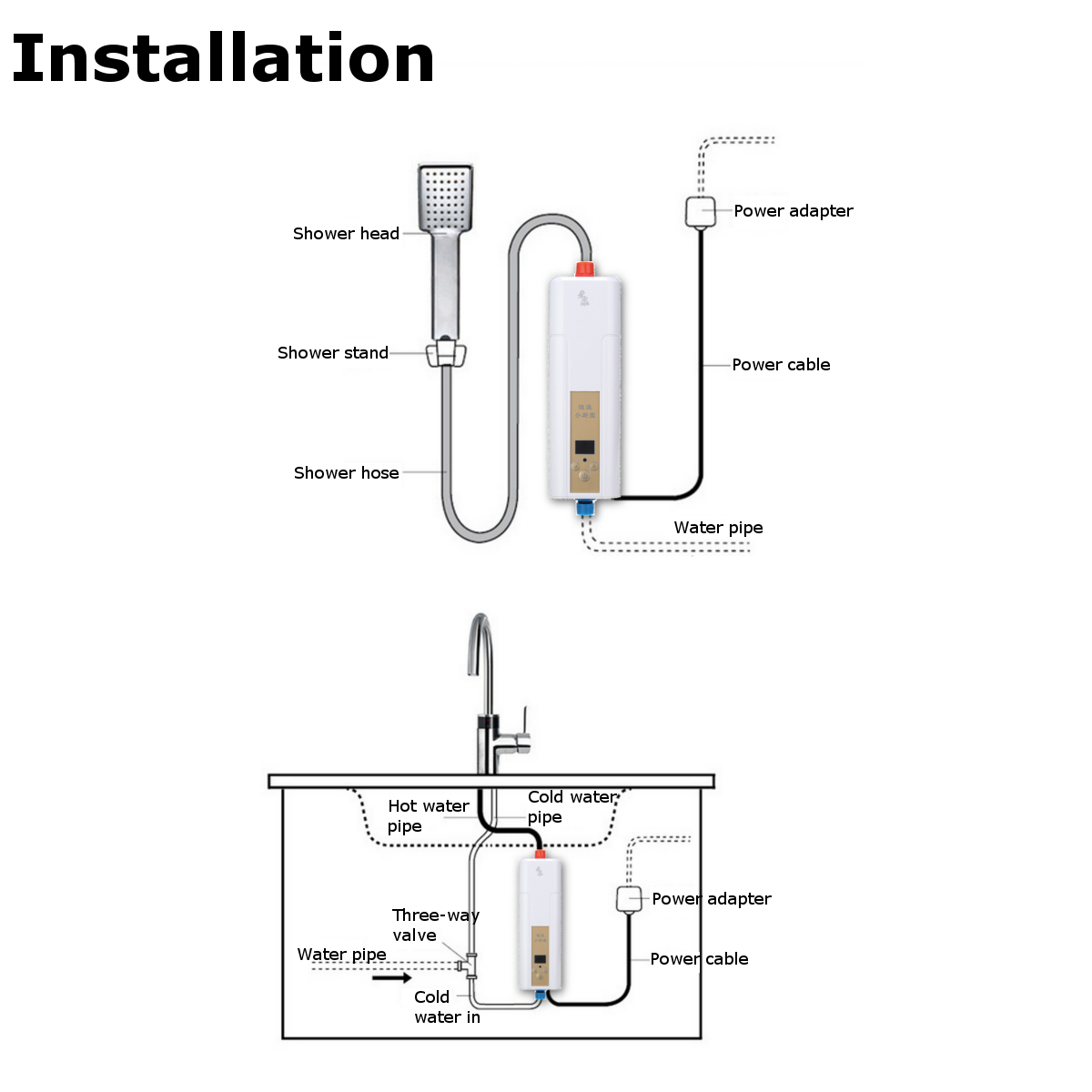 220v Instant Electric Water Heater Indoor Tankless For