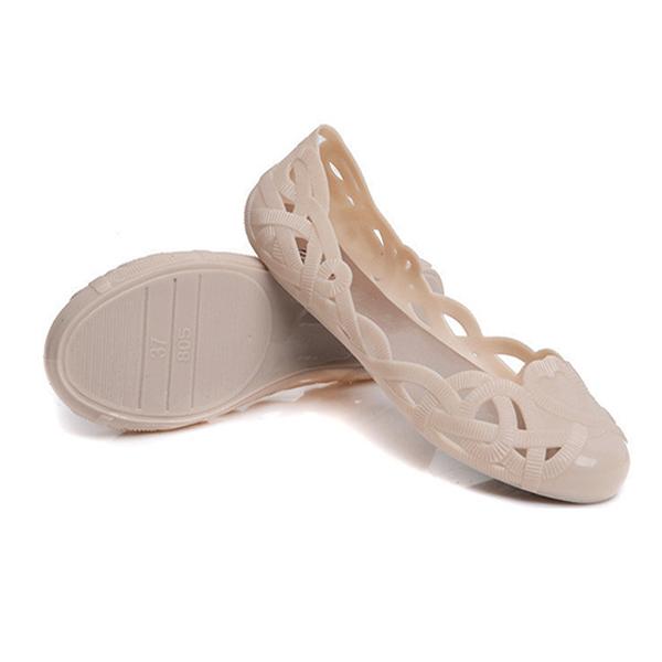 Women Casual Hollow Flat Shoes Soft Slip-on Sandals Flip Flops Comfortable Flats Shoes
