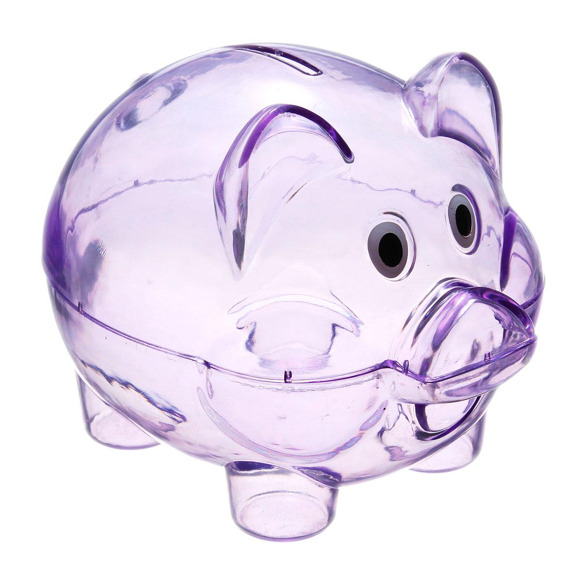 Children Kids Baby Portable Cute Plastic Pig Clear Piggy