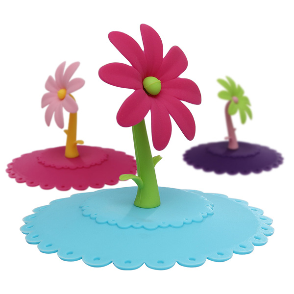 flower silicone cup cover