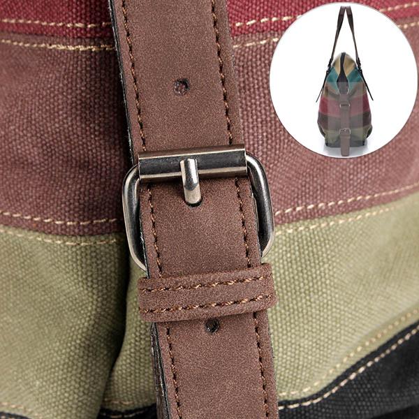 Detail Show Solid Casual Stripe Canvas Handbags