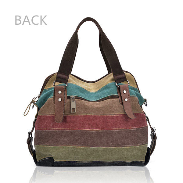 Back Of Canvas Stripe Bags