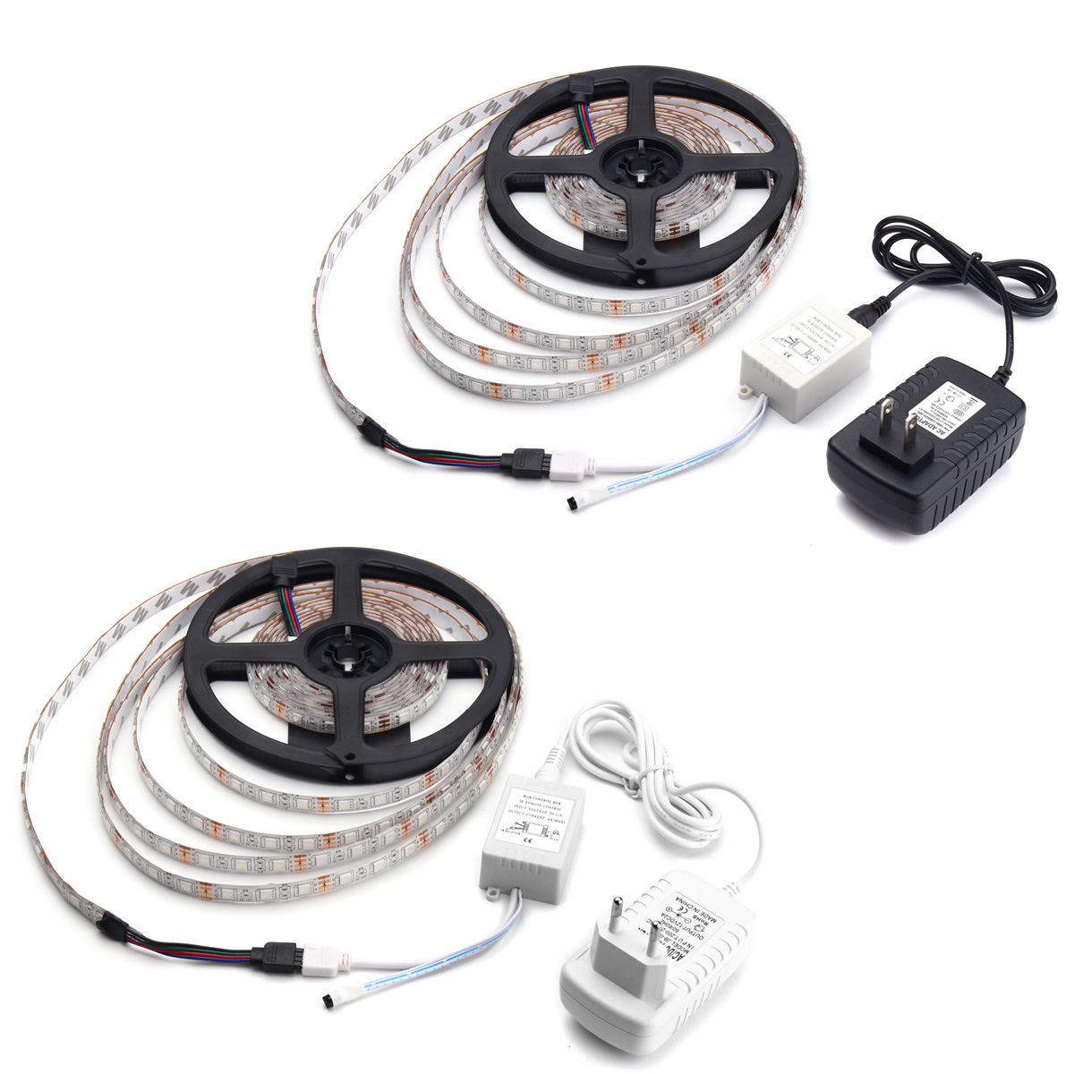 5m 60w Rgb Smd Waterproof 300 Led Strip Light 44 Key Remote 12v 2a Power A