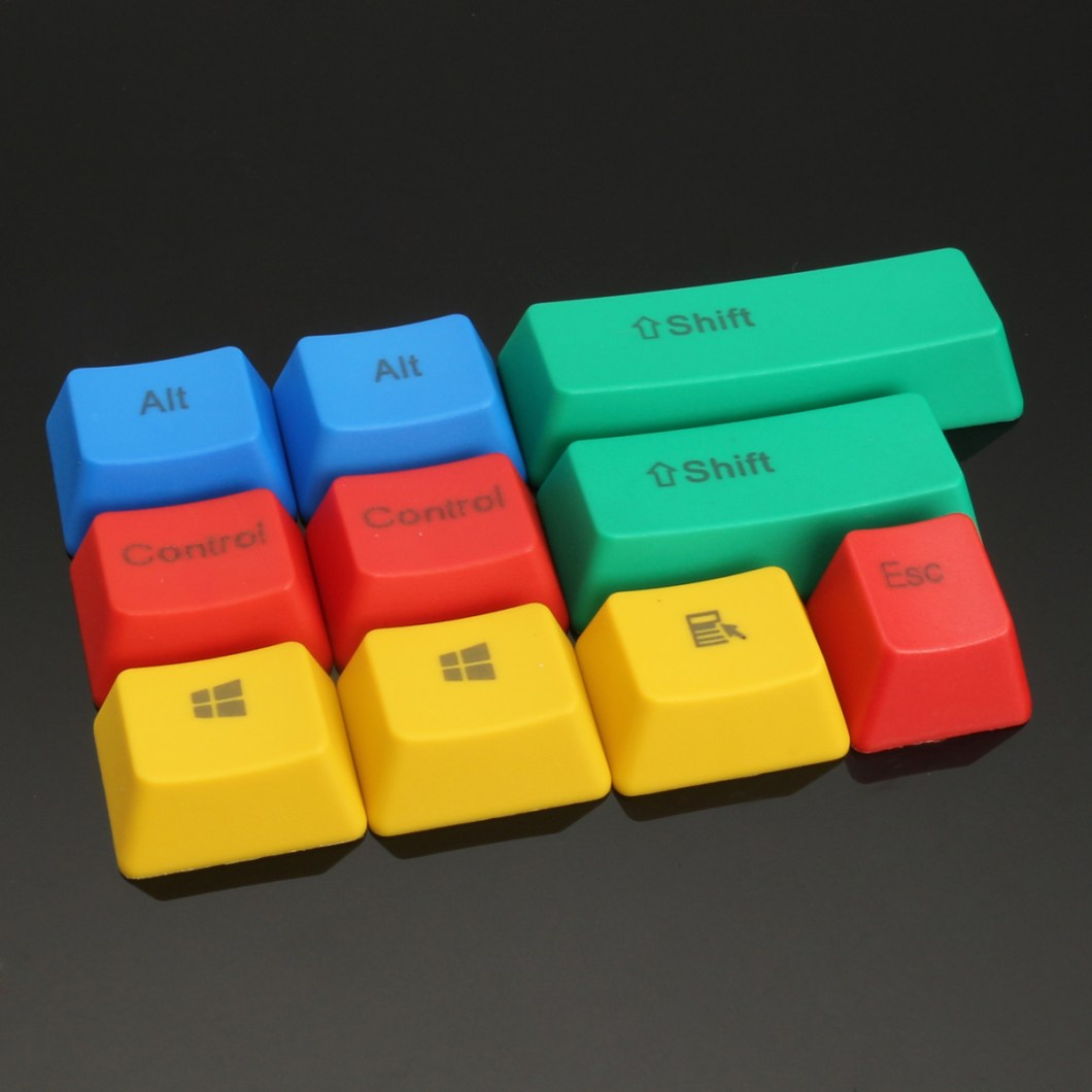 10Pcs RGBY ANSI PBT Thick Keycap Key Caps for Mechanical Gaming Keyboard 9