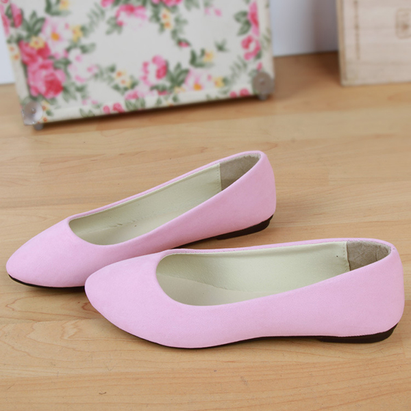 US Size 5-11 Women Flats Casual Soft Comfortable Pointed Toe Slip On Ladies Loafers Flats Shoes