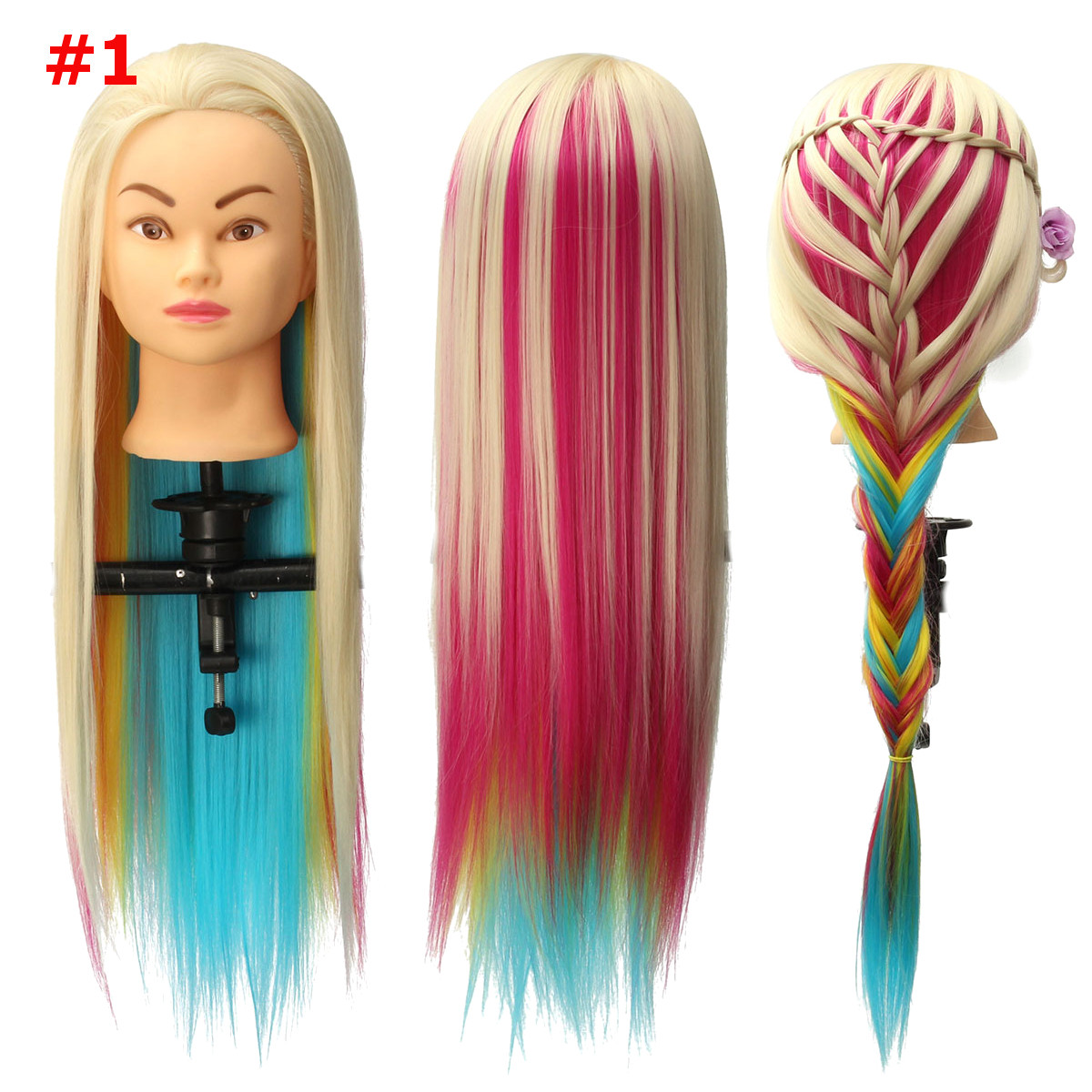 8 Colors Salon Hairdressing Braiding Practice Mannequin