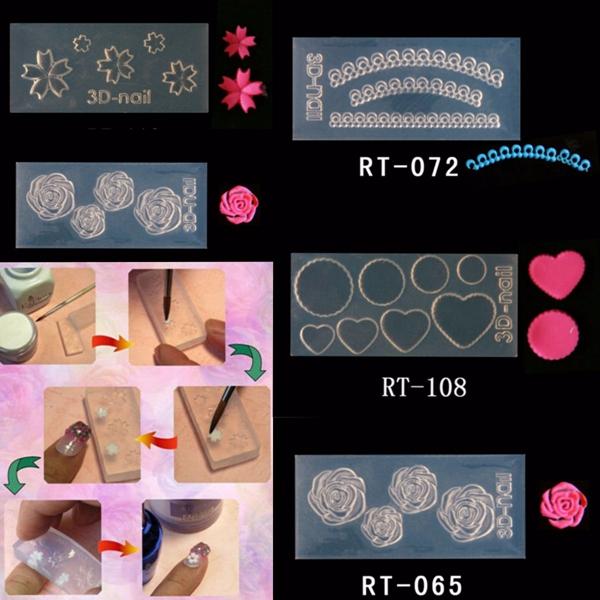 3d Acrylic Powder Design Nail Art Mold Diy Diffe Styles Hot Manicure Tools
