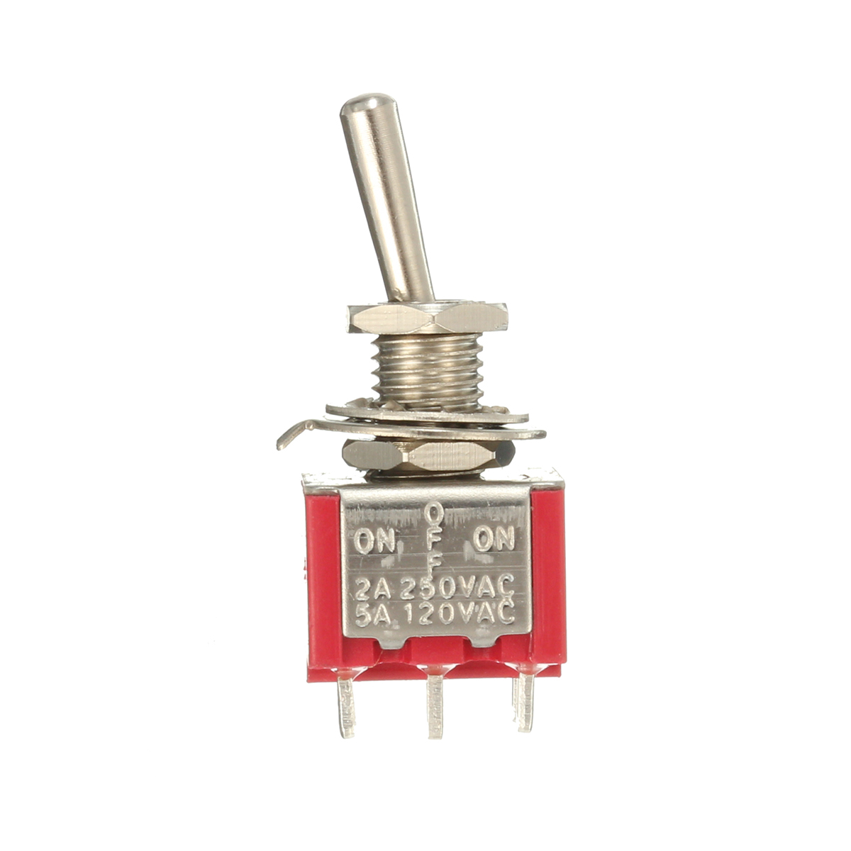 Red Toggle Switch Dpdt On Off On 6 Pins 3 Position 5a
