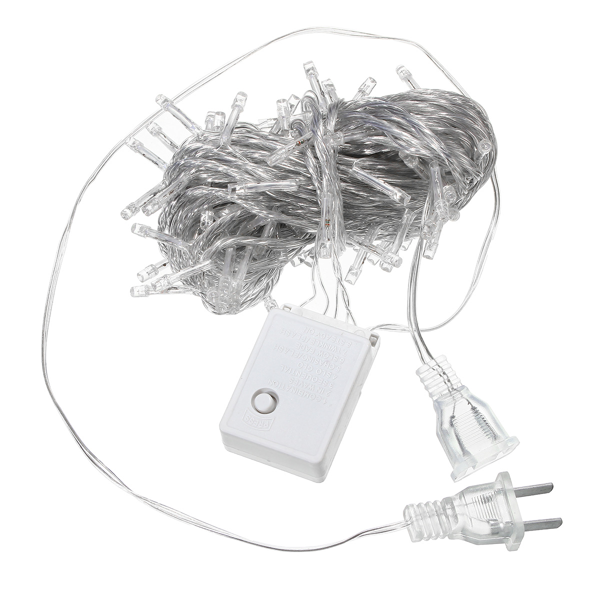 10m 100led Fairy String Christmas Light Outdoor Waterproof Wedding Holiday Party Lamp Us Plug