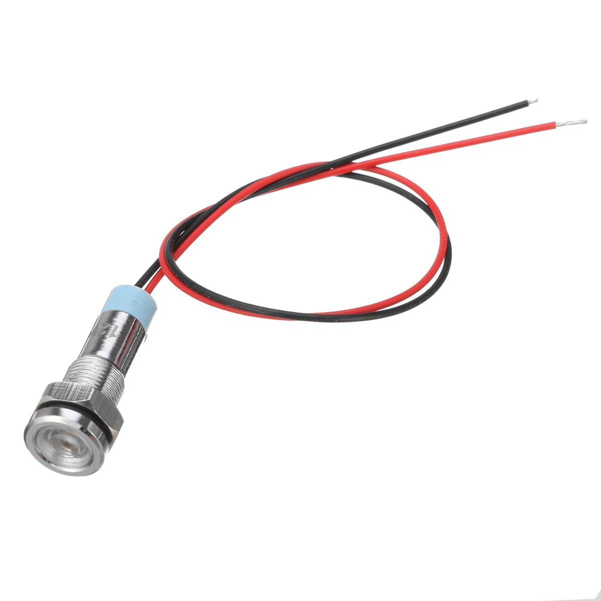 12v 6mm Led Indicator Light Pilot Dash Lamp Motorccyle Car Truck Boat Metal Sale