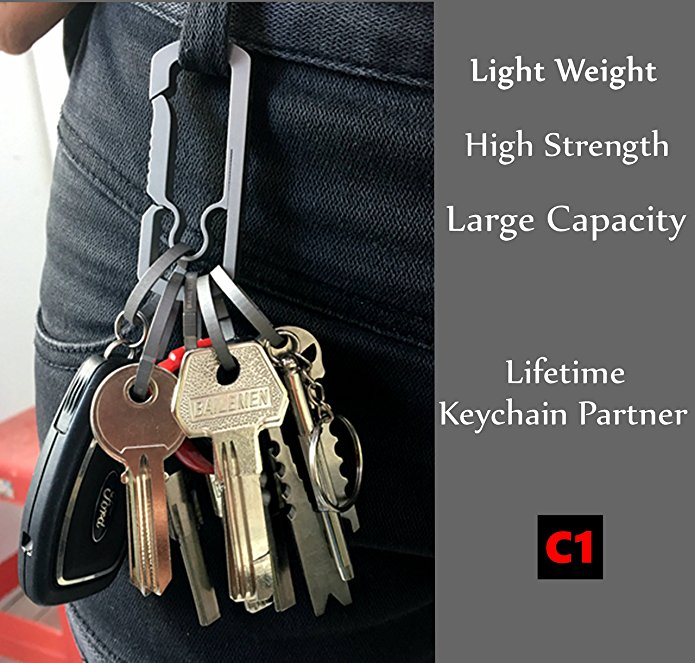 BANG TI C1 Titanium Alloy Quick Release Keychain Key Clip