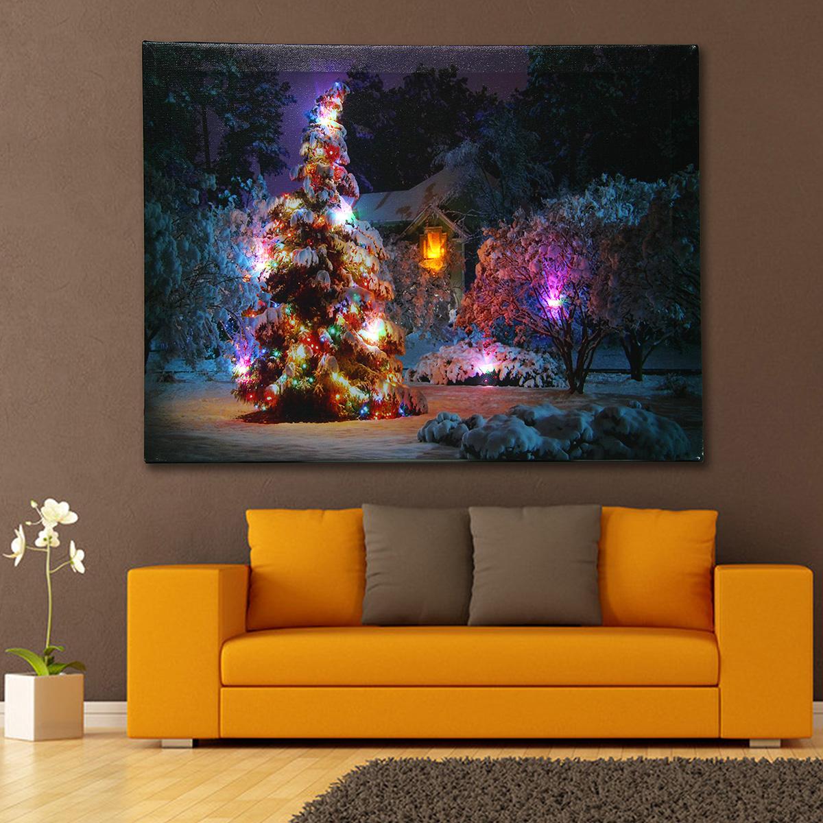 Led Christmas Canvas Art