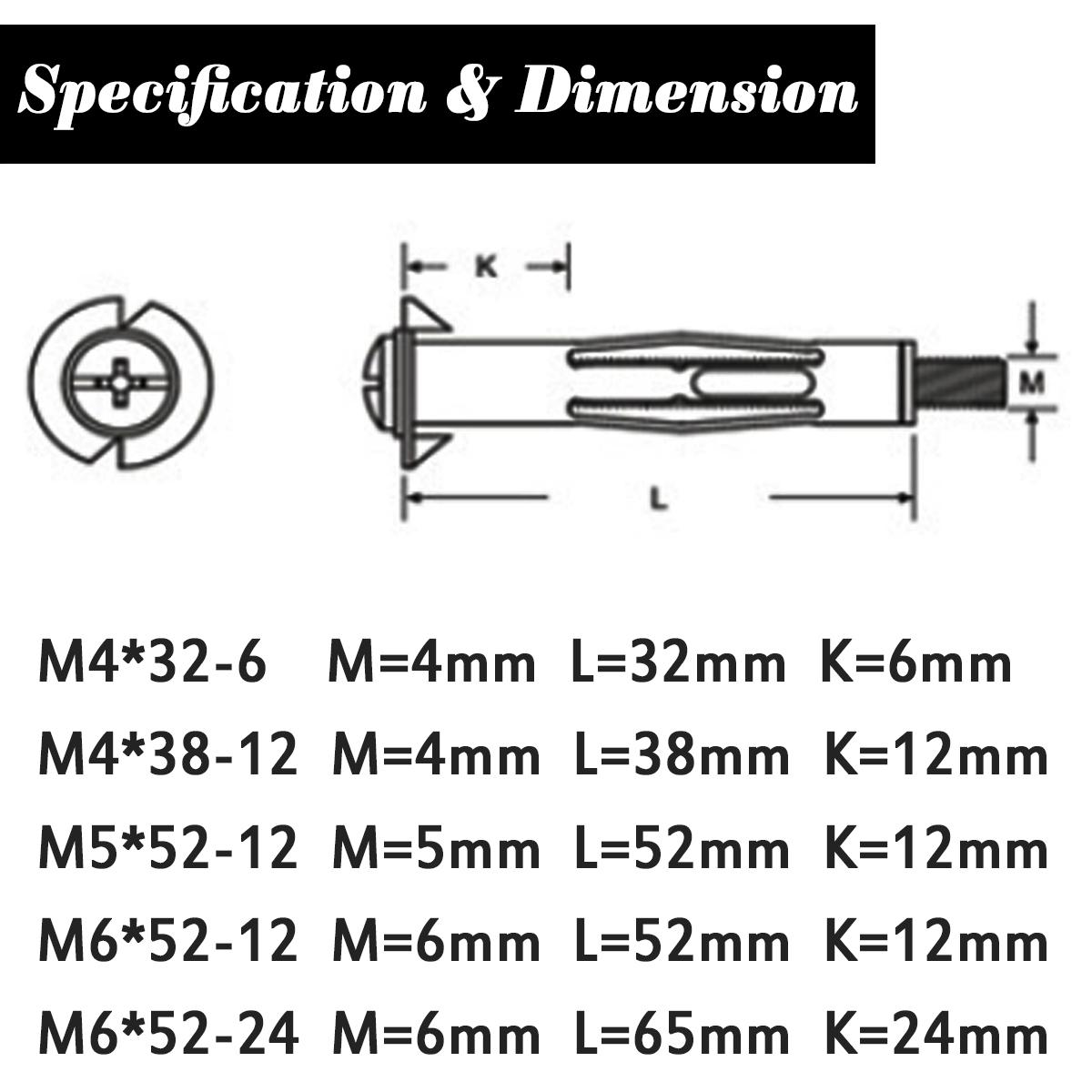 M4 M5 M6 Mix Expansion Screw Heavy Duty Setting Tool Kit