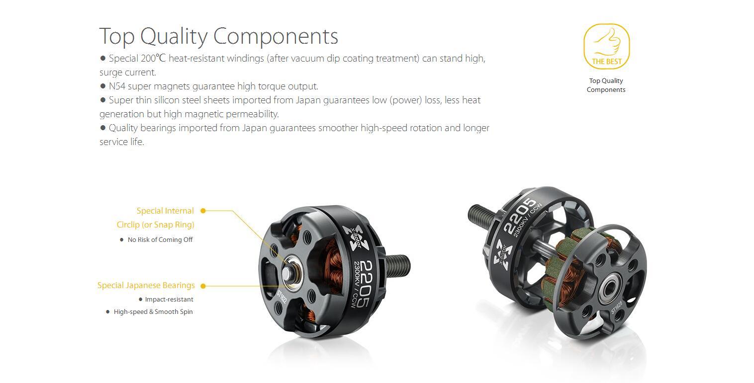 Hobbywing Xrotor Kv Kv Brushless Motor Cw Ccw For Fpv Racer Drone Qav250