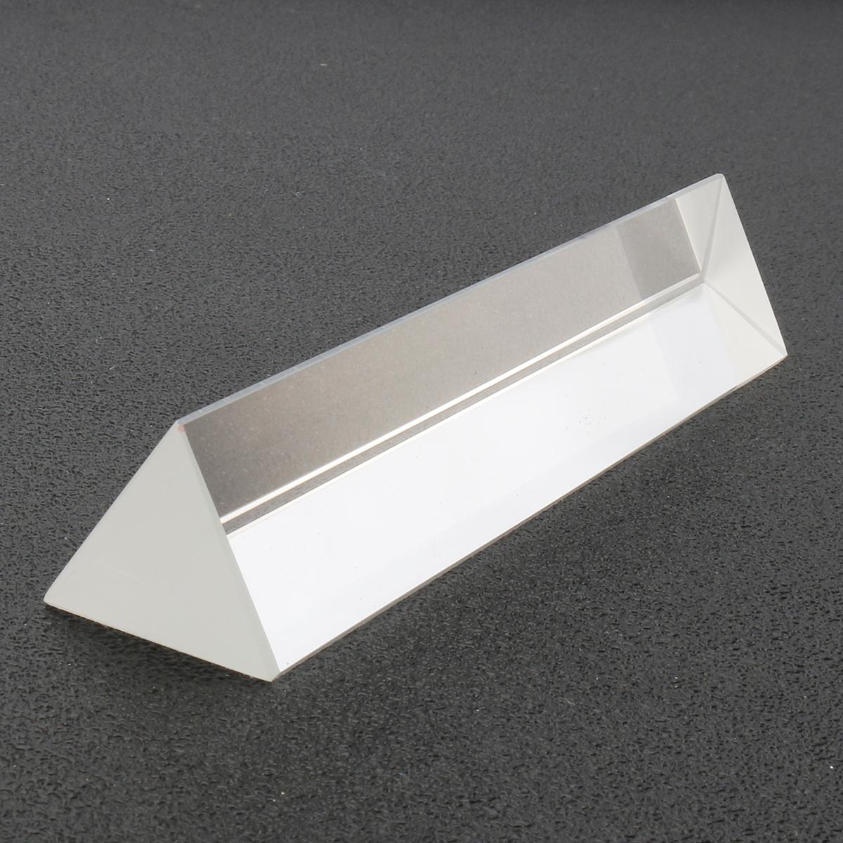 6 Inch Optical Glass Triple Triangular Prism In Box Physics Teaching Light Spectrum Sale
