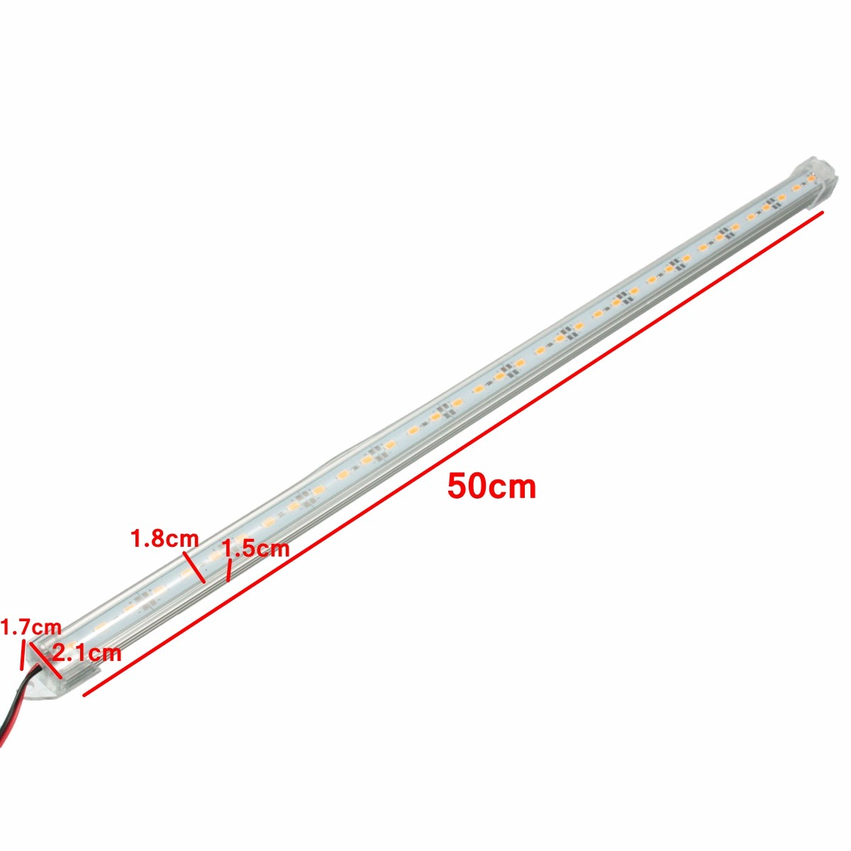 12v 50cm Car Clear Led Smd Interior Strip Light Bar Van Caravan Fish Tank Sale