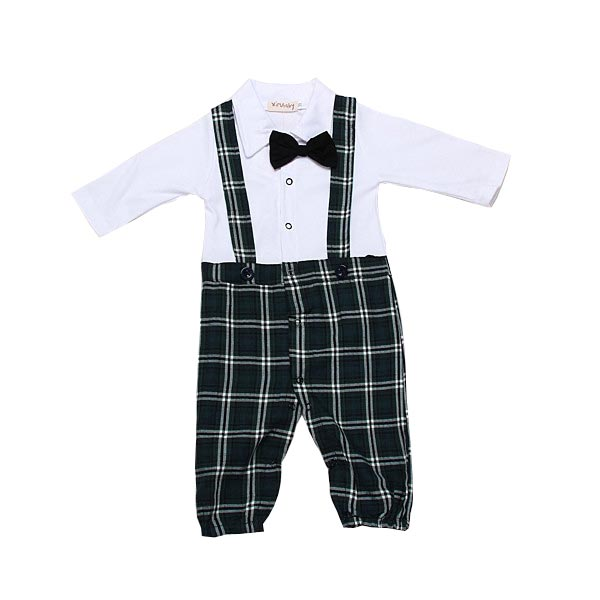 Baby Boy Jumpsuit Bodysuit Bow Tie Romper Onepiece Suit