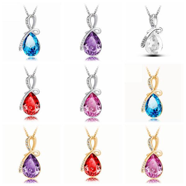 Crystal Water Drop Necklace