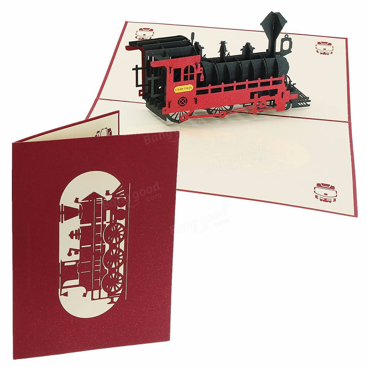 3d Pop Up Train Greeting Card Happy Birthday Thank You