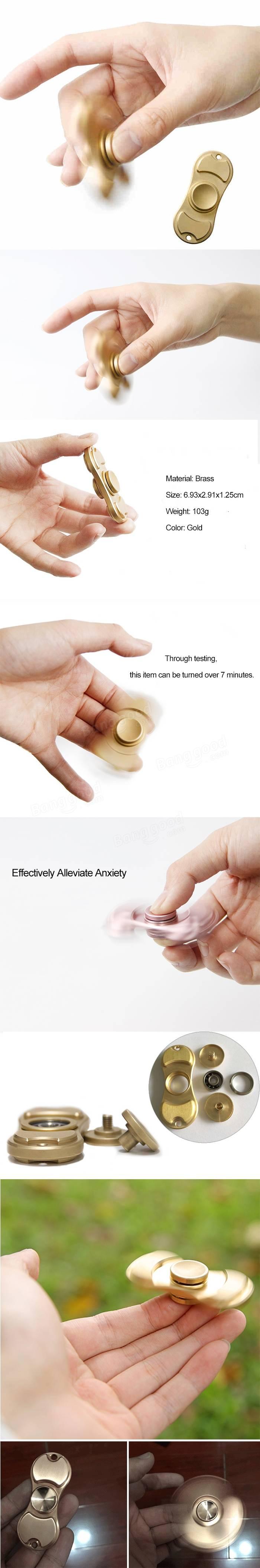 EDC Over 7 min Rotating Hand Spinner Fingertips Spiral Fingers Gyro Brass Reduce Pressure