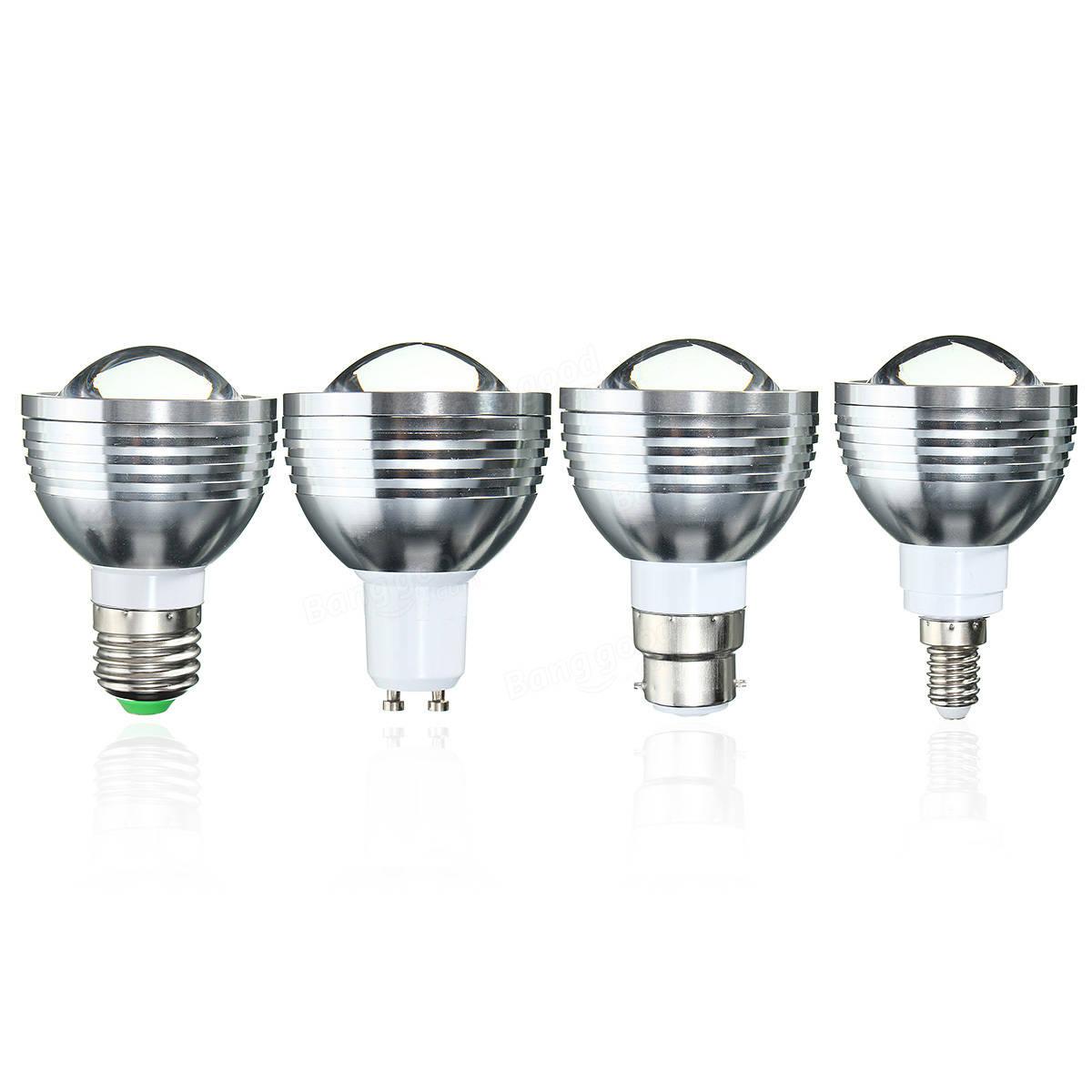 E27 B22 Gu10 E14 5w Dimmable Rgb Color Changing Led Spot Light Lamp Bulb Remote Ac 85 265v
