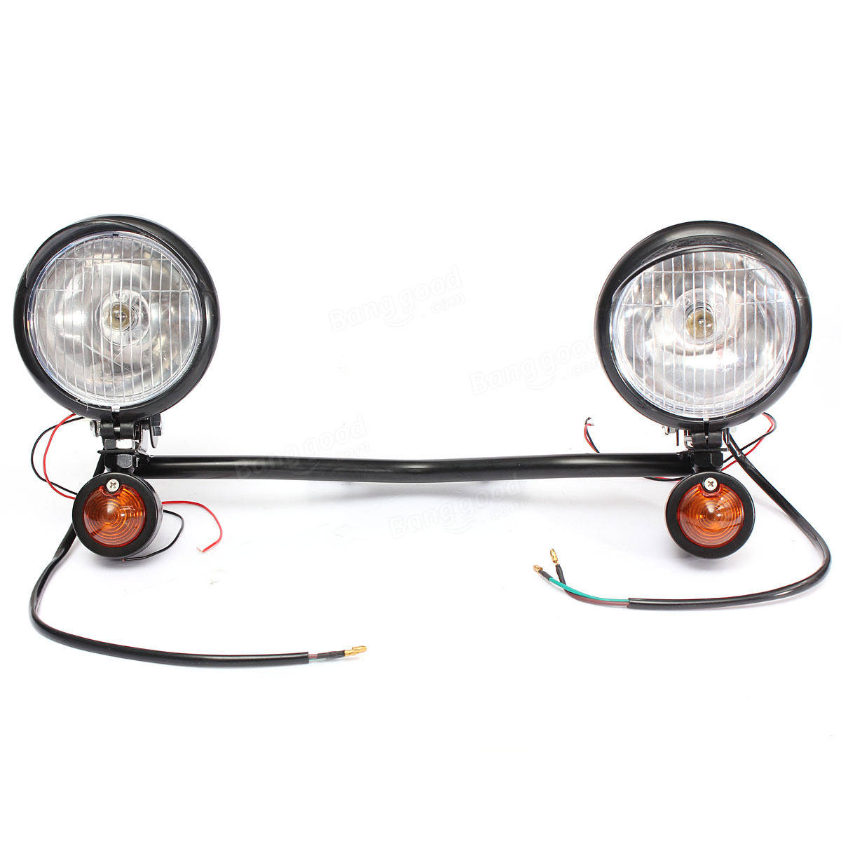 Motorcycle Spot Lightt Bar Set With Two Turn Signals For