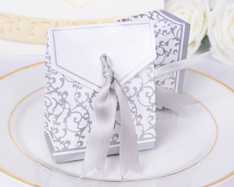 50pcs Creative Wedding Candy Gift Box Party Chocolate Paper Bo