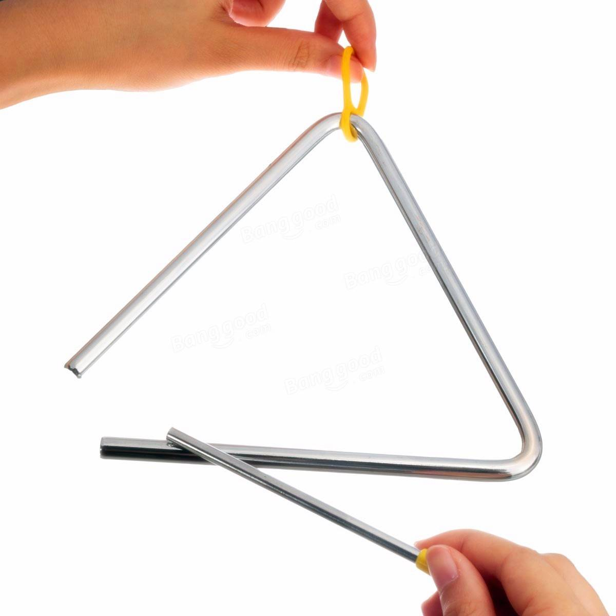 Metal Musical Triangle Amp Beater Percussion Instrument
