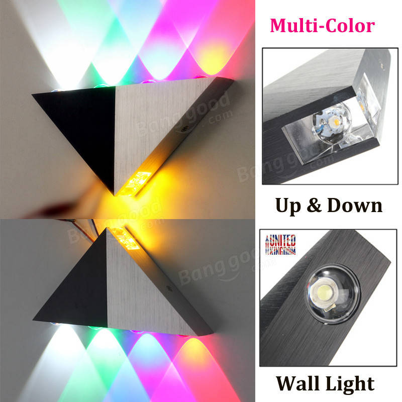 Multi Color Triangle 5w Led Wall Sconce Lamp Up Amp Down