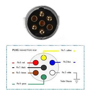 12n 7 pin metal remolque enchufe y kit de conector hembra para remolque remolque de caravanas