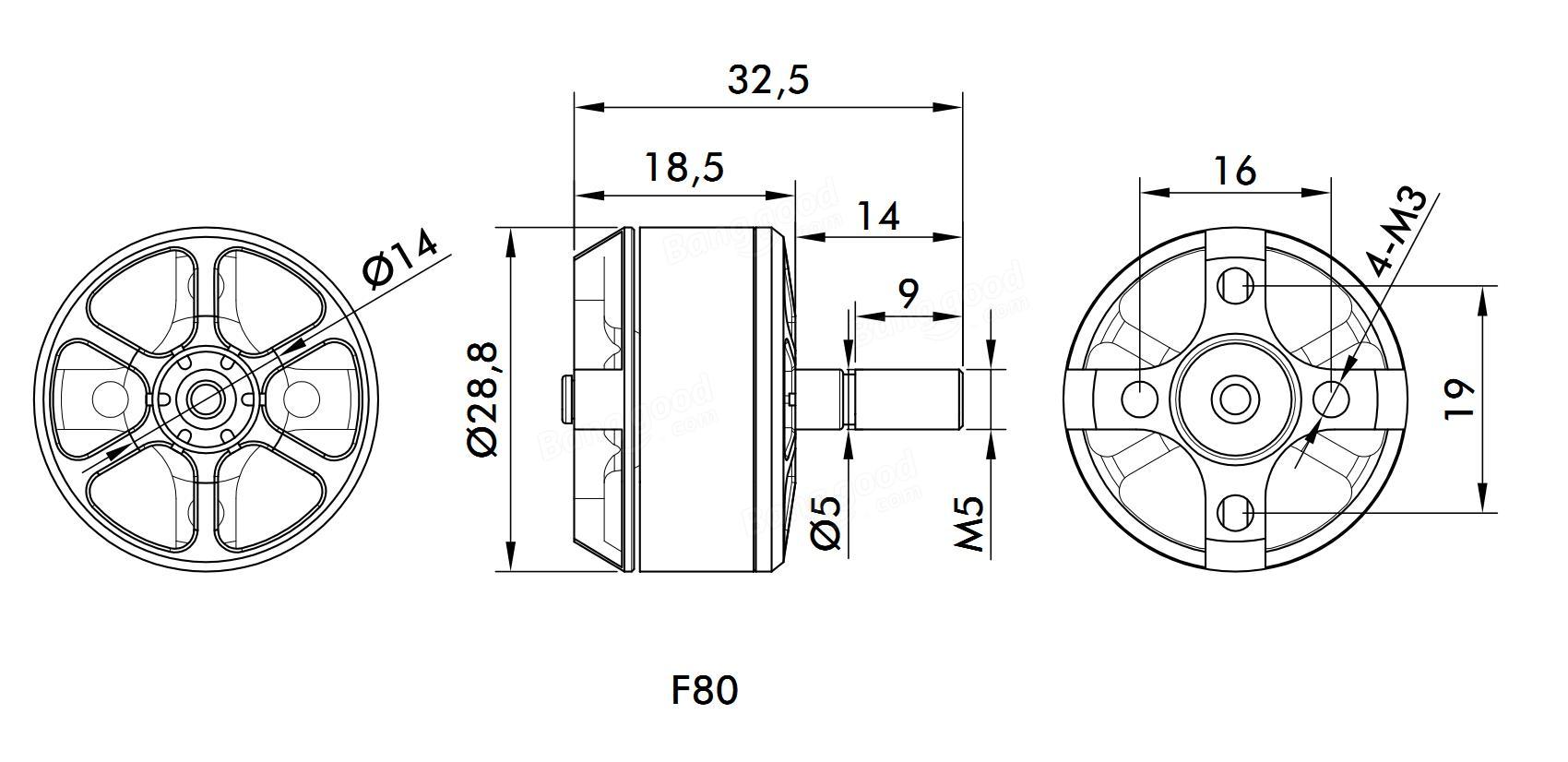 T Motor F80 Kv Kv Kv Brushless Motor 2 6s