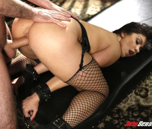 Lea Lexis Gets Tied Up And Fucked In Black Fishnet Stockings Main Image