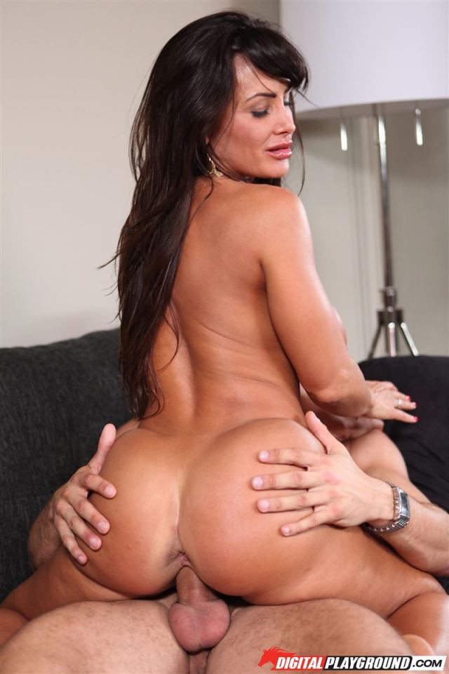 Hot Housewife Lisa Ann Rides Dick On Couch In Blue Lingerie Main Image