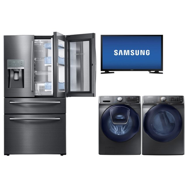 Samsung TV, kitchen appliances