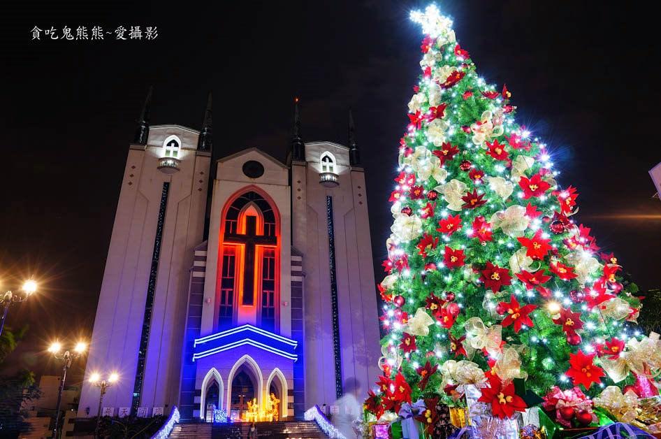 高雄旅遊 鳳山基督長老教會-2017年聖誕節點燈嚕