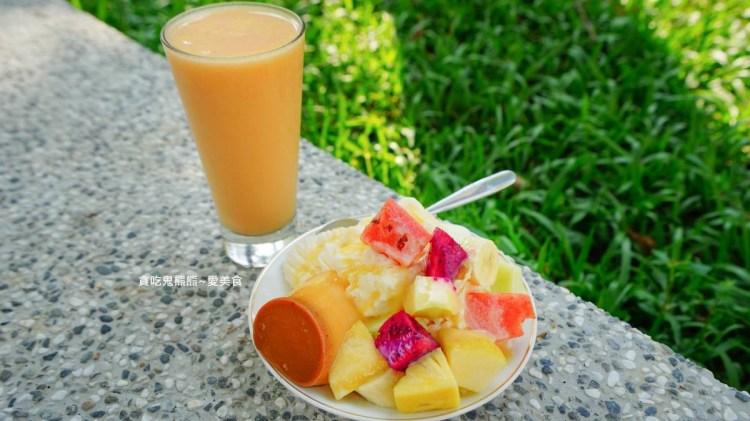 高雄雪花冰 宏美冰果店-布丁水果牛奶冰,綜合果汁-媽媽說要吃水果
