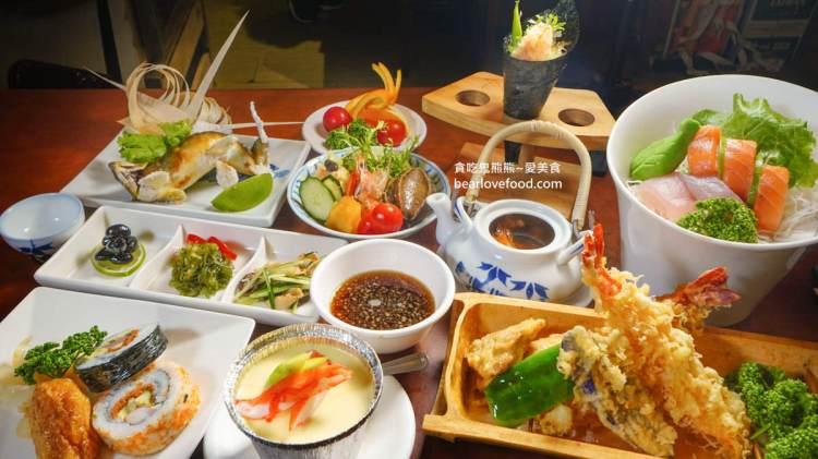 高雄日本料理 福壽司日式料理-太驚訝套餐式定食滿滿一桌居然只要700元