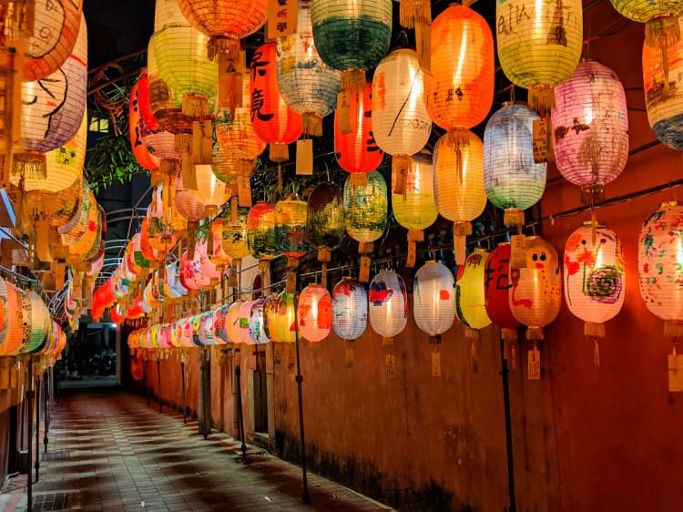 2020府城成功燈會 大紅燈籠與古樸鄭成功祖廟,人少好拍照