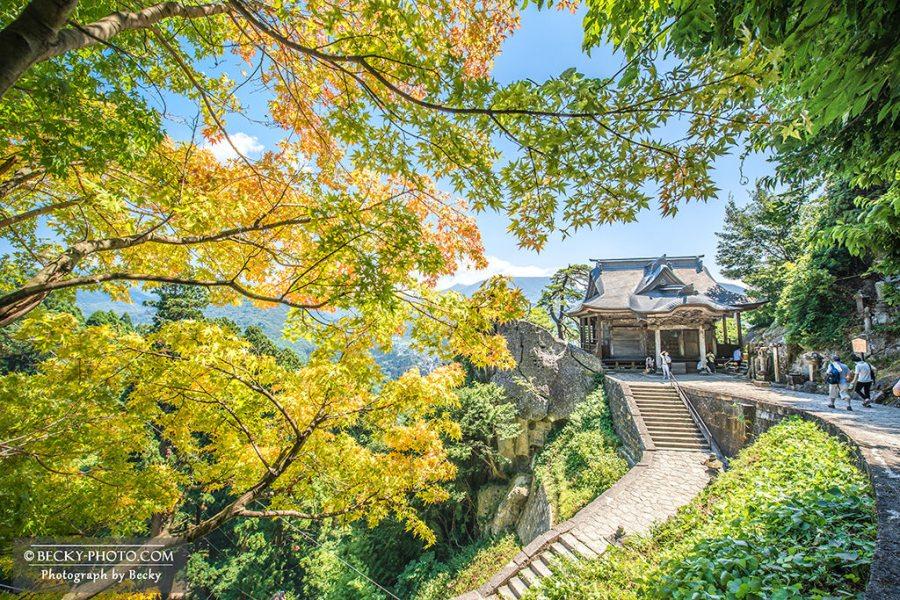 【日本】。東北自助絕美景點「山形山寺」五大堂展望台!日本賞楓雪景必去景點