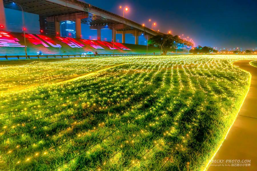 【新北】。2019三重燈會拍攝點「大台北都會公園」溜滑梯、辰光橋 2/18開幕活動!